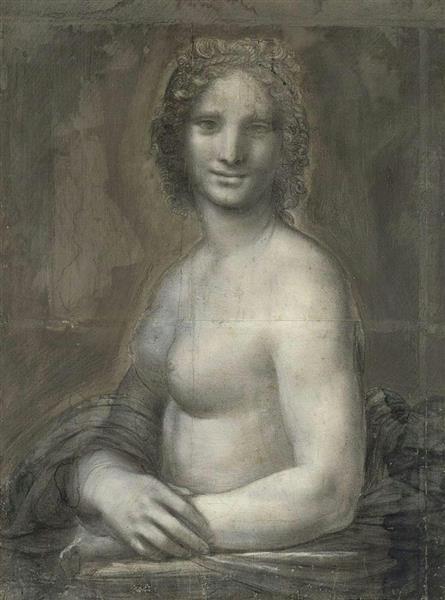 上半身裸の女性の肖像画(ゲッティ=共同)