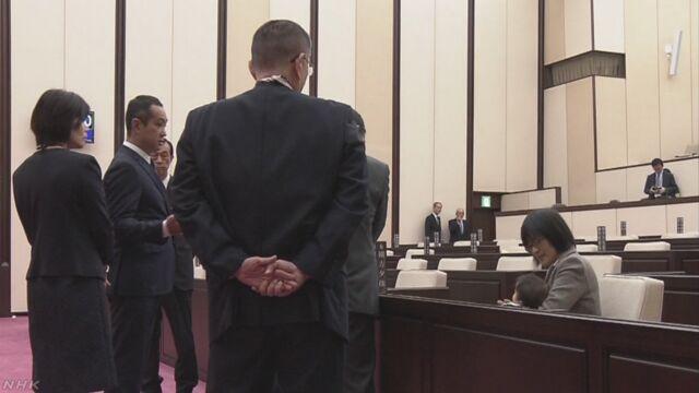女性議員が議会に子連れ出席求め 開会遅れる 熊本市議会 | NHKニュース