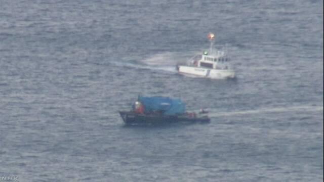 北朝鮮木造船が逃走か 海保が追跡しえい航 北海道 函館沖 | NHKニュース