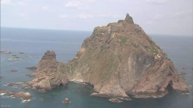 韓国軍が竹島沖で軍事訓練 日本政府は中止求める | NHKニュース