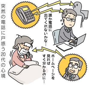 戸津電の電話に戸惑う20代の心境