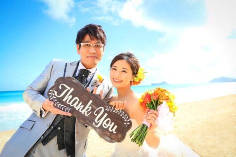 ハワイ挙式の写真を公開した古坂大魔王と安枝瞳