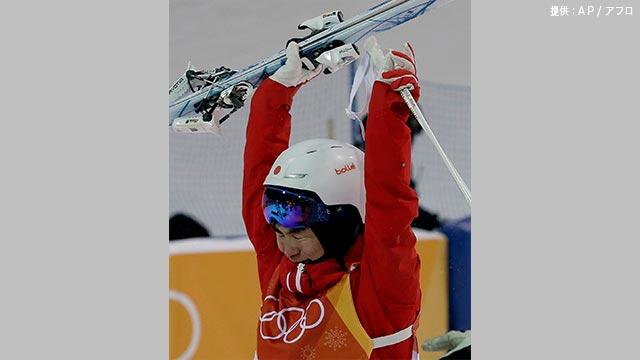 五輪モーグル:原が日本史上初の銅メダル 男子