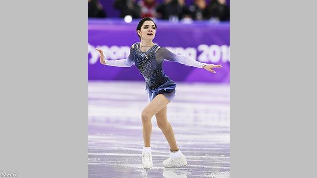 メドベージェワが世界最高得点を更新 フィギュア女子 | NHKニュース