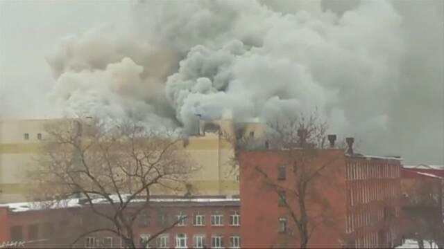ロシア 火災で37人死亡 60人余連絡取れず