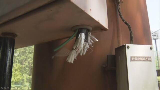 野球場 ナイター照明用のケーブル盗難か 群馬