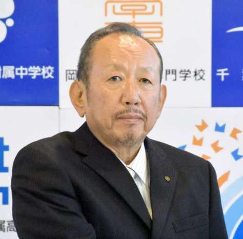 学校法人加計学園の加計孝太郎理事長=2017年4月