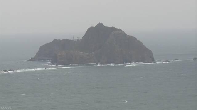 竹島周辺で訓練 韓国軍発表 外務省が抗議