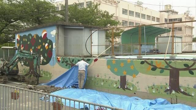ブロック塀 鉄筋の長さ33センチ 塀の上まで達せず | NHKニュース