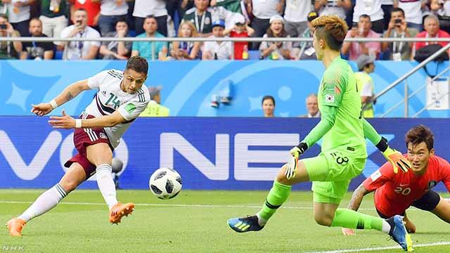 サッカーW杯 メキシコ2連勝 韓国は2連敗