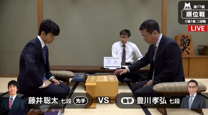 またも1期抜けなるか? 藤井聡太七段、順位戦C級1組の初戦で対局中
