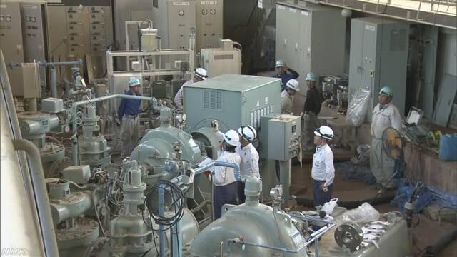広島県の取水場 送水再開も断水解消にはまだ時間