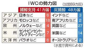 IWCの勢力図