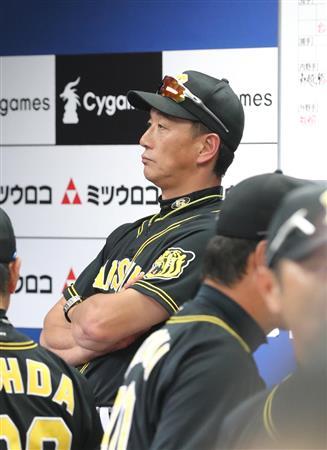 阪神・金本監督。18日現在最下位でもCS出場のチャンスはある