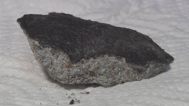 住宅の屋根に隕石が直撃 国立科学博物館が調査
