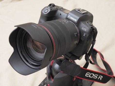 キヤノン初のフルサイズセンサー搭載ミラーレスとして発売されたEOS-R。レンズはRF24-105mm F4 L IS USM=米田堅持撮影