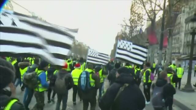 フランス各地 反マクロン政権デモ続く 衝突で1300人超拘束