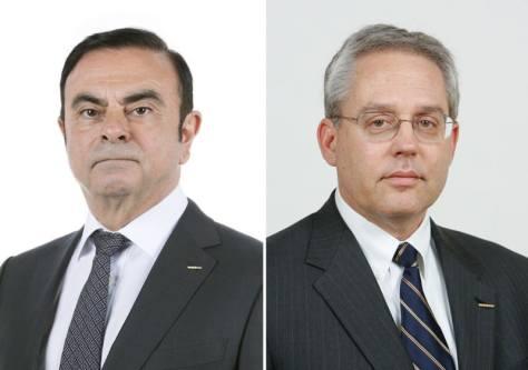 カルロス・ゴーン容疑者(左)、グレゴリー・ケリー容疑者