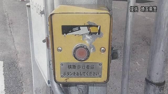 信号機押しボタンの損壊相次ぐ 警察が捜査 埼玉 幸手 | NHKニュース