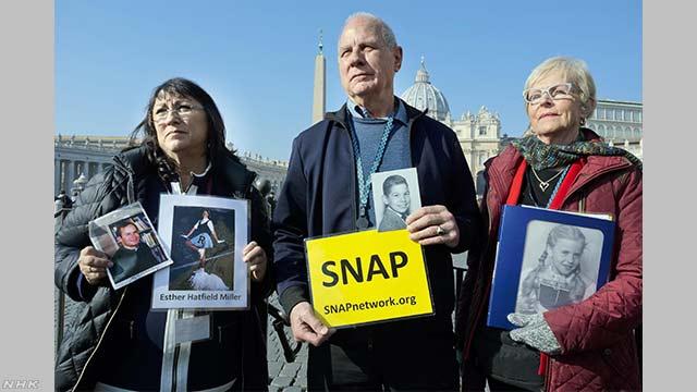 カトリック教会の聖職者による性的虐待に抗議デモ