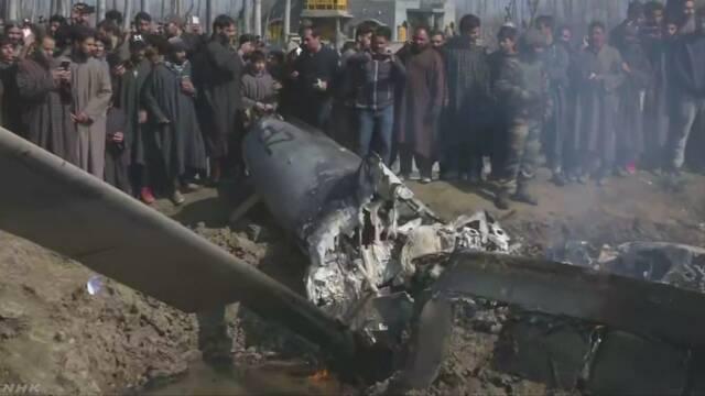 パキスタン軍 インド軍戦闘機を撃墜と発表 軍事的緊張高まる