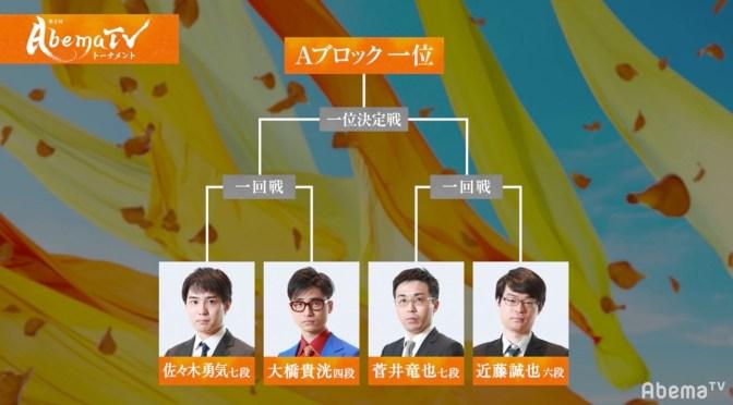 第2回AbemaTVトーナメント開幕! 4月28日に予選Aブロック ファン予想は50%が菅井竜也七段1位抜け | AbemaTIMES