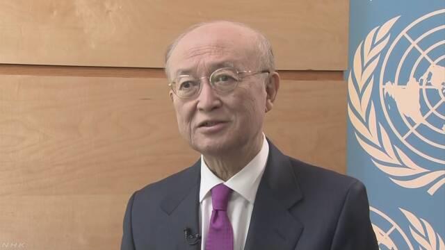"IAEA 天野事務局長""北朝鮮への査察は不可欠"""