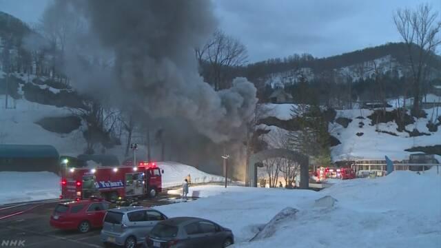 北海道 夕張 石炭博物館で火災 坑道にある本物の石炭が燃焼か