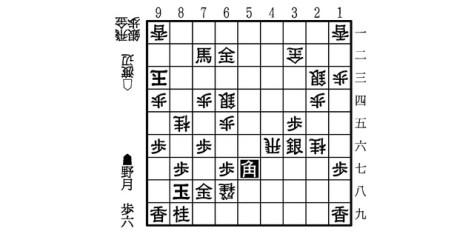 図(▲野月―△渡辺、113手目▲5七角の局面