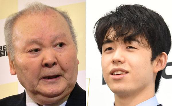 加藤一二三九段(左)と藤井聡太2冠