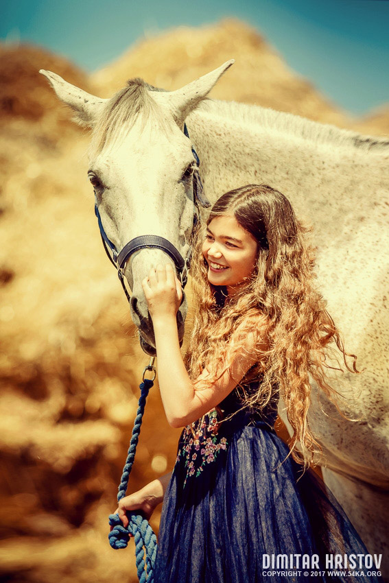 Cute Painting Wallpapers Cute Girl With Beautiful White Horse 54ka Photo Blog