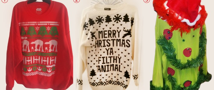 The good, the bad, and the UGLY: Christmas sweaters for every character
