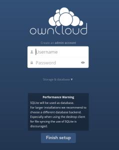 ownCloud setup