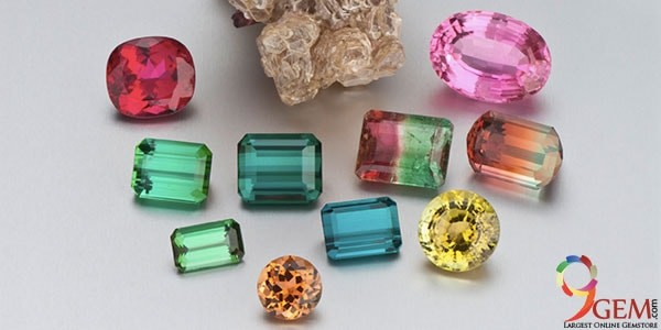 Tourmaline gemstone