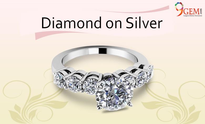 Diamond on Silver