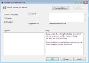 Q&A Monday: Disable Taskbar Preview