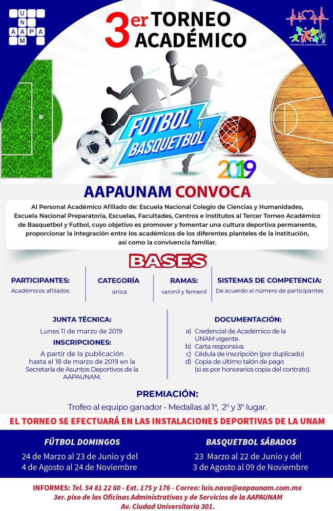 cartel basquet y futbol 2018