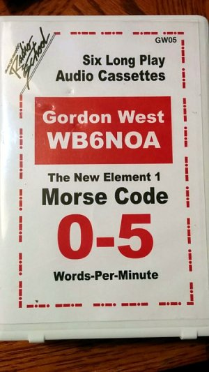 WB6NOA morse code course on cassette