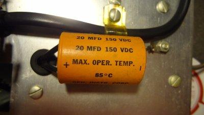 Heathkit IG-102 20 uF capacitor