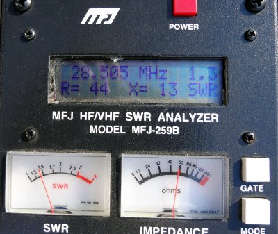 SWR=1.3 at 28.5 MHz