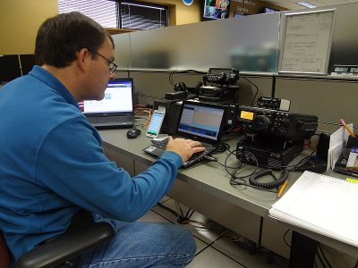 Tom/AJ4UQ doing some PSK for Skywarn Recognition Day 2014