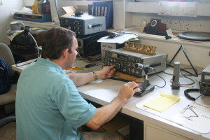 AJ4UQ at one of the WA4USN radios