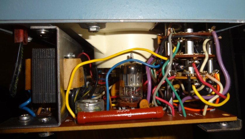 Left side with the range selector switch and 6AL5 tube