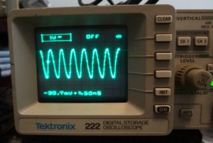Tektronix 222 display