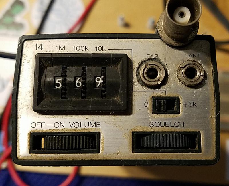Tempo S1 handheld FM transceiver control panel