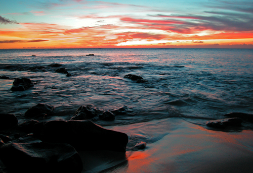 Sunset Beach by Ted Lee Eubanks