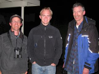 Jay, Noah, and Tim after a long day in Hood River County
