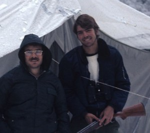 Ted with John O'Neill , Peruvian Andes,  1974 (unknown photographer; photo courtesy of James Van Remsen)