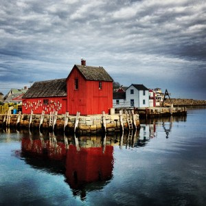 Motif Number 1 in Rockport on Cape Ann, is one of the nation's most often painted and photographed buildings as an icon of coastal life in New England. (Photo © George Armistead)