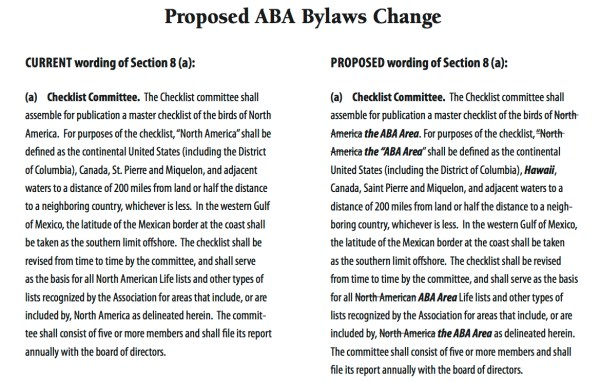 The proposed change to the ABA Bylaws Section 8(a).